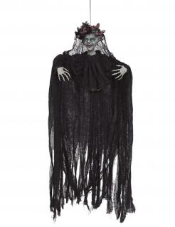 Medusa-Dekofigur mit Licht und Sound Halloween-Hängedeko schwarz 120 cm