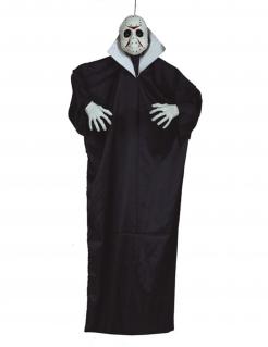 Mörder-Dekofigur mit Licht und Sound Halloween-Partydeko schwarz-weiss 170 cm