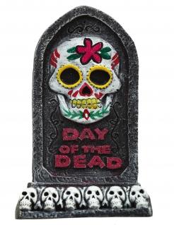 Tag der Toten-Grabstein Halloween-Partydeko schwarz-weiss-pink 13x8 cm