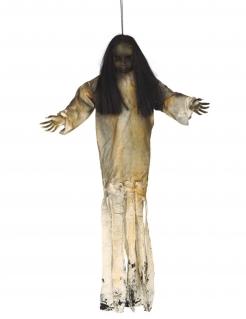 Schaurige Puppen-Hängedeko Halloween-Partydeko beige-schwarz 90 cm