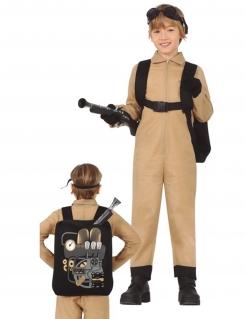 Geisterjäger-Kostüm für Kinder Halloween-Kostüm braun-schwarz