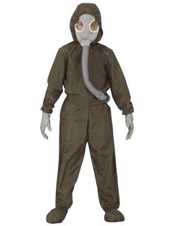 Strahlenschutzanzug-Kostüm für Kinder Halloween-Overall grün