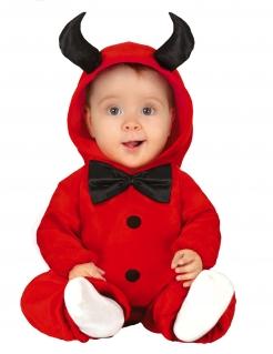 Teufel-Kostüm für Babys Halloween-Kostüm rot-schwarz