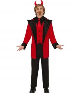 Klassisches Teufel-Kostüm für Herren Halloweenkostüm rot-schwarz