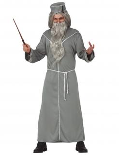 Magier-Kostüm für Erwachsene Zauberer grau