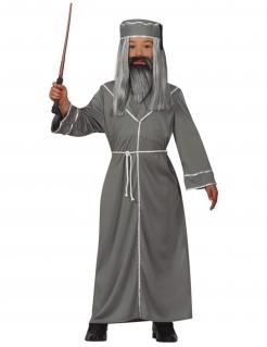 Magier-Kostüm für Kinder Zauberlehrer grau