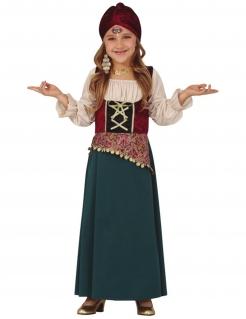 Wahrsagerin-Kostüm für Mädchen Faschingskostüm grau-weiss-rot