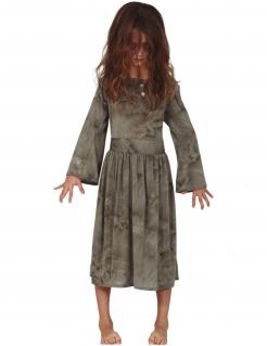 Gespenster-Kostüm für Mädchen Halloween-Kostüm grau