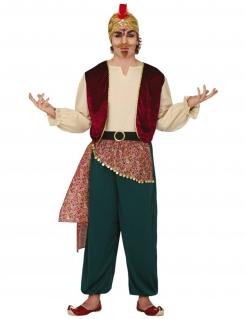 Orientalisches Wahrsager-Kostüm für Herren Faschingskostüm beige-grün-rot