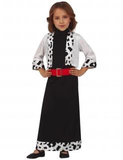 Miss Dalmatiner-Kostüm für Mädchen Faschingskostüm schwarz-weiss