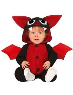 Fledermaus-Kostüm für Babys Halloween-Kostüm schwarz-rot