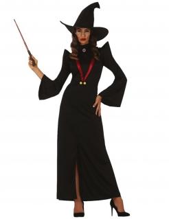 Hexen-Professorin Kostüm für Damen Hallloweenkostüm schwarz-rot