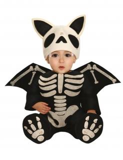 Skelett-Fledermaus-Kostüm für Babys Halloween-Kostüm schwarz-weiss