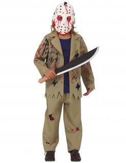 Mörder-Kostüm für Jungen Filmfigur Halloween-Kostüm beige-weiss-rot
