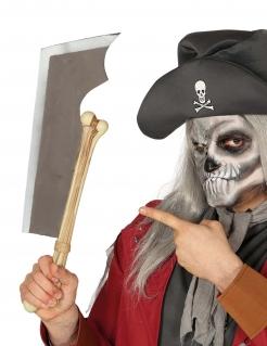 Knochen-Machete Spielzeugwaffe Halloween-Accessoire silber-beige 50 cm