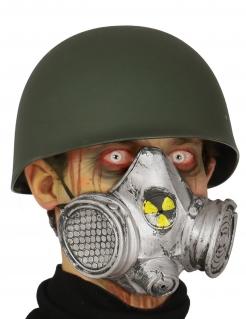 Gas-Maske Zombie-Apokalypse Halloween-Maske silber