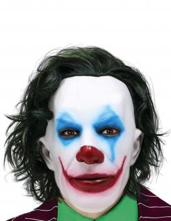 Horrorclown Superschurken-Maske für Herren bunt
