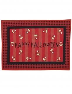 Happy Halloween-Fussabtreter Halloween-Partydeko rot-schwarz 67x49 cm
