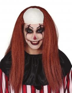 Glatze und Langhaarperücke für Erwachsene Clownperücke Rot