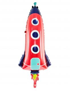 Raketen-Aluminiumballon bunt 44 x 115 cm