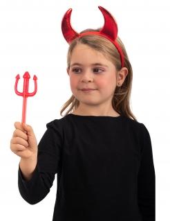 Teufel-Trident für Kinder Halloween-Accessoire rot 20 cm