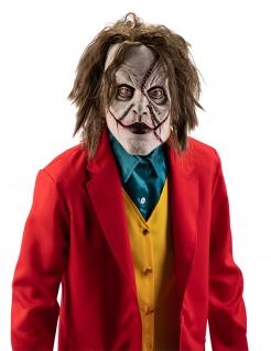 Eingefallener Clown Maske für Erwachsene Halloweenmaske grün-weiss