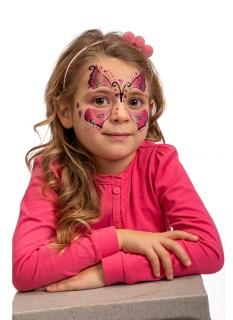 Schmetterlings-Tattoos für Kinder selbstklebend rosa-schwarz