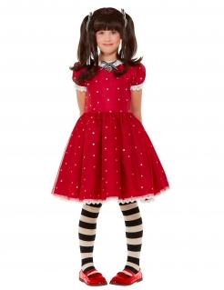 Ruby Santoro™-Kostüm für Mädchen Faschingskostüm rot-weiss