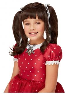 Offizielle Ruby Santoro™-Perücke für Mädchen dunkelbraun