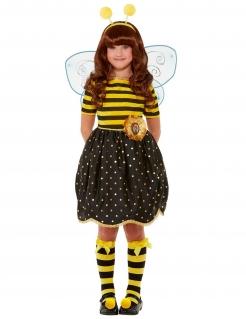 Bee-Loved Santoro™-Kostüm für Mädchen Bienen-Kostüm Karneval schwarz-gelb