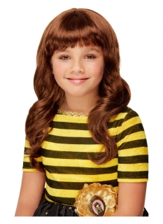 Bee-Loved Santoro™-Perücke für Mädchen Faschings-Accessoire braun