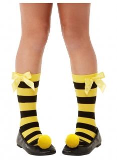 Bee-Loved Santoro™-Strümpfe für Kinder Faschingsaccessoire schwarz-gelb