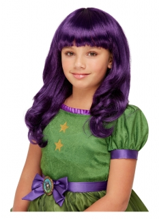 Santoro™-Hexen-Perücke für Mädchen Halloween-Accessoire violett