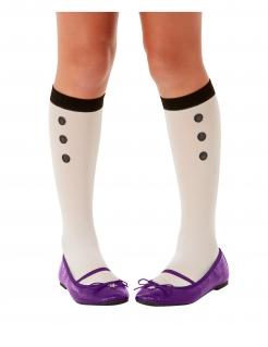 Hexen-Socken Santoro™ Halloween-Accessoire weiss-schwarz