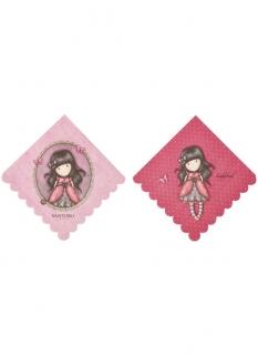 Ladybird Santoro™-Servietten Partydeko 8 Stück pink 33x33 cm
