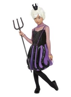 Meereshexe-Kostüm für Mädchen Halloweenkostüm schwarz-violett