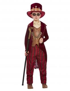 Voodoo-Kostüm für Jungen mit Knochen Halloweenkostüm rot-braun