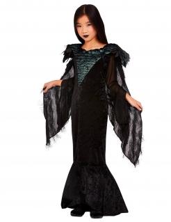 Raben-Prinzessin-Kostüm für Mädchen Halloweenkostüm schwarz