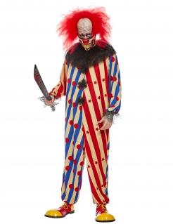 Creepy Horrorclown-Kostüm für Herren Halloweenkostüm bunt
