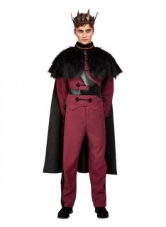 Dunkler Prinz Fantasykostüm für Herren rot-schwarz