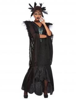 Königin der Raben-Kostüm für Damen Halloweenkostüm schwarz
