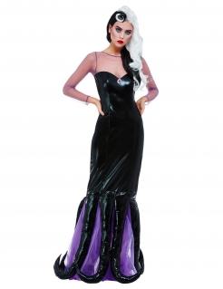 Krakendame-Kostüm für Damen Halloweenkostüm schwarz-violett