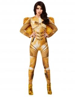 Prächtiger Schutzengel Damenkostüm goldfarben