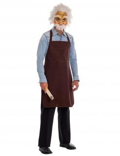 Gepetto™-Kostüm mit Maske für Herren Faschingskostüm braun-weiss