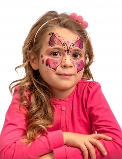 Schmetterling Tattoo Gesichtstattoo für Kinder Pink Schwarz