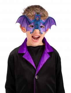 Fledermaus-Halbmaske für Kinder Halloween-Maske blau-violett