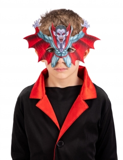 Vampir-Halbmaske für Kinder Halloween-Maske bunt