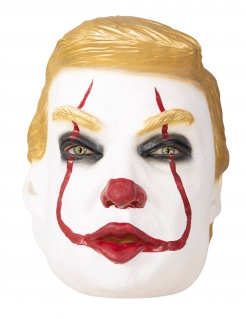 Trumpy der Clown-Maske Halloween-Maske weiss-gelb-rot