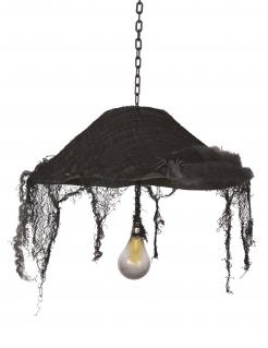 Halloween-Deckenleuchte Halloween-Partydeko schwarz 44 cm