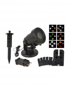 LED-Projektor für Weihnachten und Halloween Partydeko 6 Motive bunt